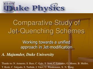 Comparative Study of Jet-Quenching Schemes