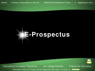 E-Prospectus