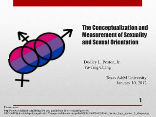 The Conceptualization and Measurement of Sexuality and Sexual Orientation           Dudley L. Poston, Jr.           Yu-T