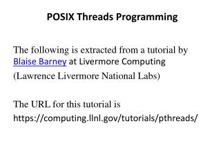 POSIX Threads Programming