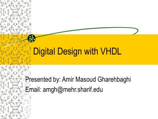 Digital Design with VHDL
