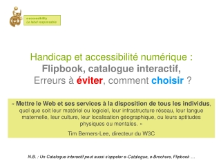 Flip book Flash accessible - Comment choisir - E-accessibili