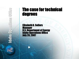 The case for technical degrees