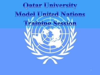 Qatar University Model United Nations Training Session