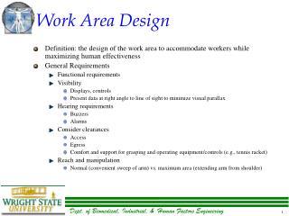 Work Area Design