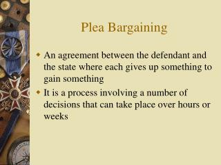 Plea Bargaining