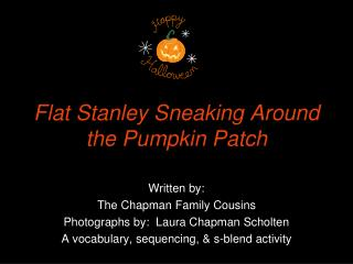 Flat Stanley Sneaking Around the Pumpkin Patch