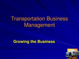 Transportation Business Management