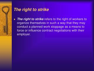 The right to strike