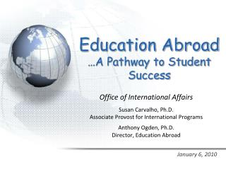 Education Abroad  A Pathway to Student Success