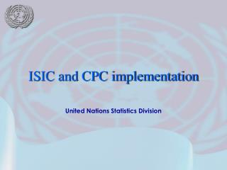 United Nations Statistics Division
