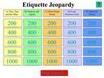 Etiquette Jeopardy
