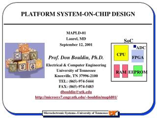 PLATFORM SYSTEM-ON-CHIP DESIGN