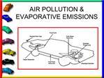 AIR POLLUTION  EVAPORATIVE EMISSIONS