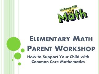 Mathematics workshop 4