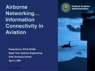 Airborne Networking  Information Connectivity in Aviation