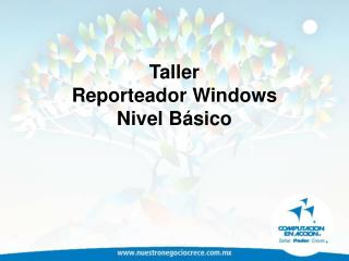 Taller Reporteador Windows  Nivel B sico