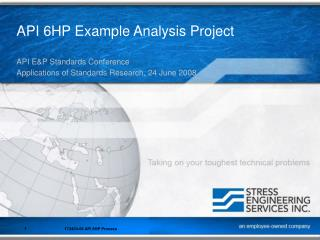API 6HP Example Analysis Project