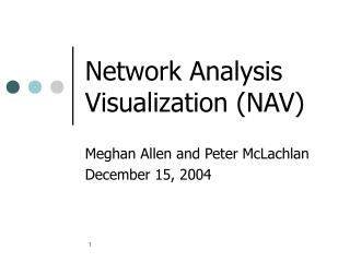 Network Analysis Visualization NAV
