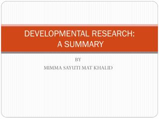 Development Research by Richey