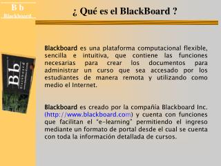 Qu  es el BlackBoard