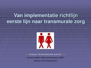 Van implementatie richtlijn eerste lijn naar transmurale zorg