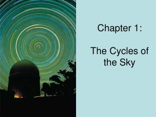 Chapter 1:  The Cycles of the Sky