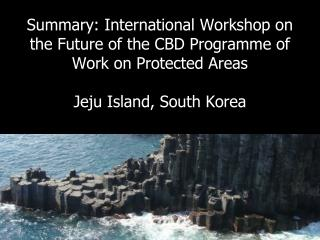 Summary: International Workshop on  the Future of the CBD Programme of Work on Protected Areas   Jeju Island, South Kore