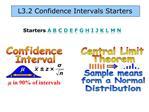 L3.2 Confidence Intervals Starters