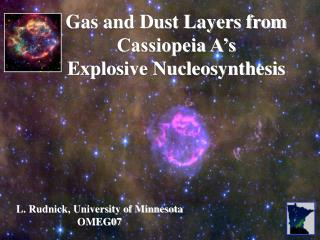 Gas and Dust Layers from Cassiopeia A s Explosive Nucleosynthesis