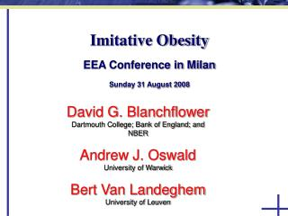Imitative Obesity   EEA Conference in Milan  Sunday 31 August 2008