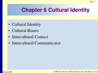 Chapter 6 Cultural Identity
