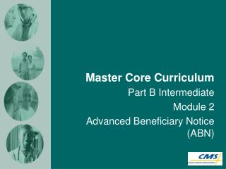 Master Core Curriculum