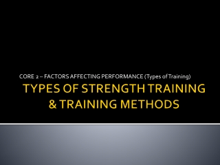 Core 2  Factors affecting performance