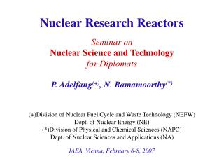Nuclear Research Reactors