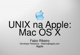 UNIX na Apple: Mac OS X