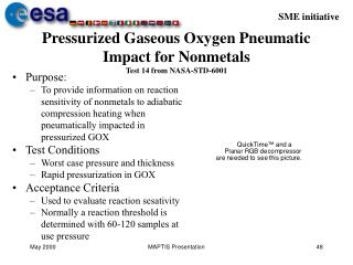 Pressurized Gaseous Oxygen Pneumatic Impact for Nonmetals Test 14 from NASA-STD-6001