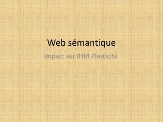 Web s mantique