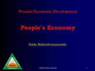 Proutist Economic Development    People s Economy