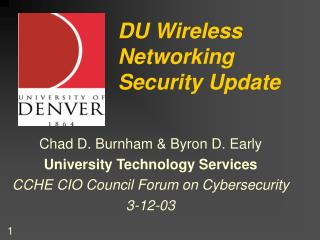 DU Wireless Networking Security Update