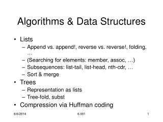 Algorithms  Data Structures