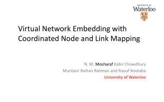 Virtual Network Embedding with Coordinated Node and Link Mapping