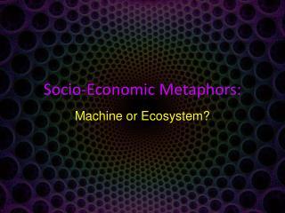 Socio-Economic Metaphors: