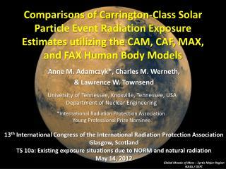 Comparisons of Carrington-Class Solar Particle Event Radiation Exposure Estimates utilizing the CAM, CAF, MAX, and FAX H