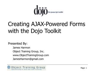 Creating AJAX-Powered Forms with the Dojo Toolkit