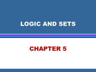 LOGIC AND SETS