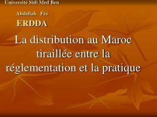 Universit  Sidi Med Ben Abdellah   F s        ERDDA