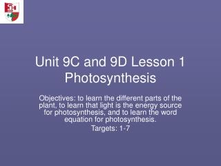 Photosynthesis  Biomass