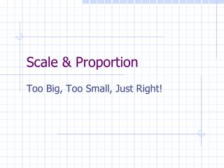 Scale  Proportion