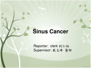 Sinus Cancer